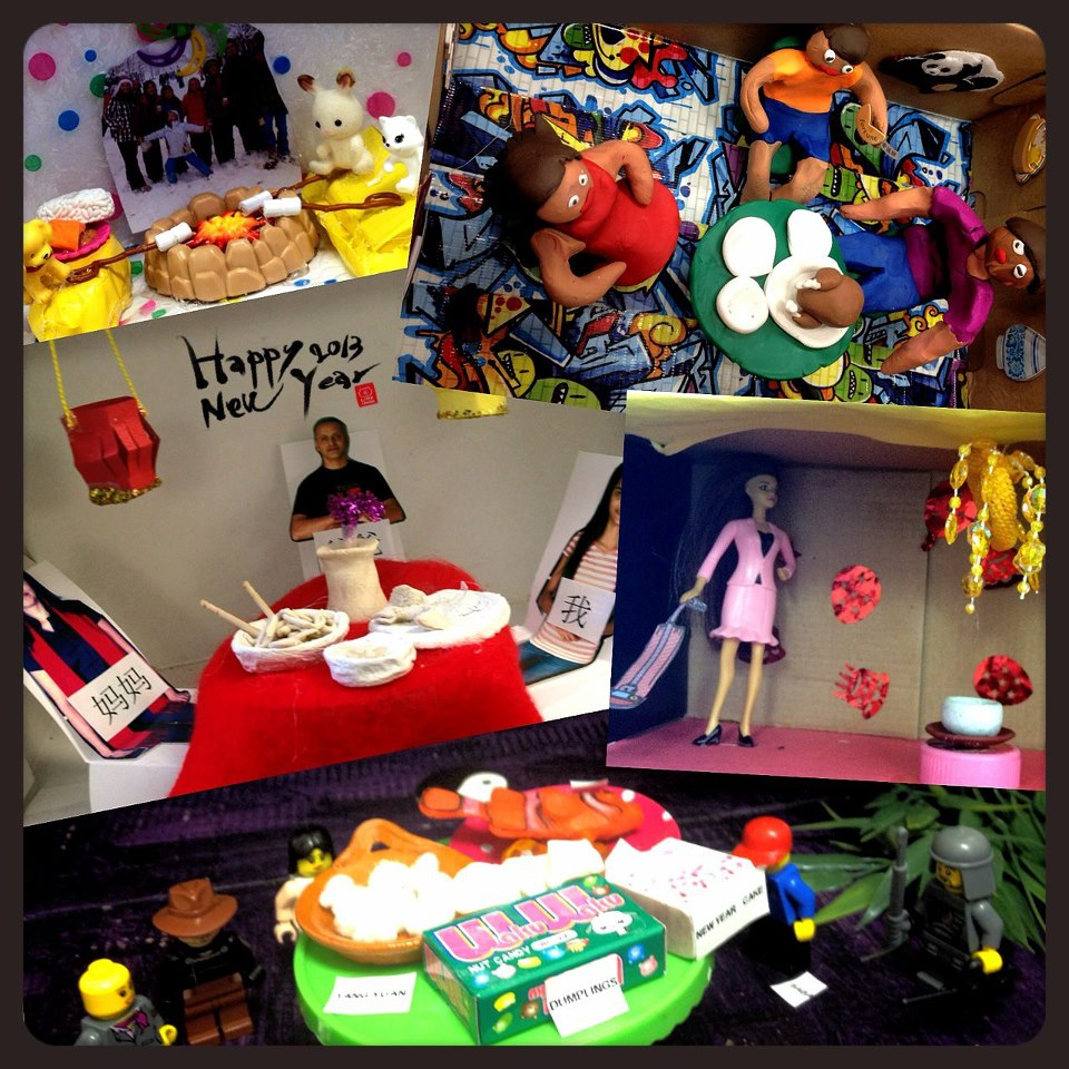 Students created special Chinese New Year dioramas