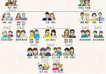 lesson 6 family members picture in chinese